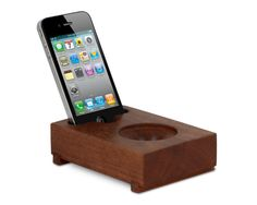 Makore Mini-Koo by Koostik. $75.00. Works with all iPhone models. Sound resonates between bottom of Mini-Koo and the hard surface it is placed on. Great amplification for your office or bedroom! Also Available in Walnut, Beetle Kill Pine, Cherry, and Maple. www.koostik.com