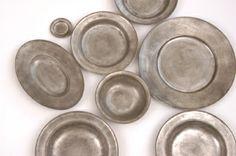 安藤雅信 銀彩ピューター皿 使用するうちに焼き付けられた純銀が表情を変えていく育つ器。