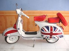 Vespa - a perfect ride for an Italian husband & English bride.. Like us!