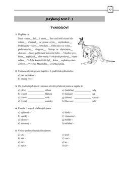 Výsledek obrázku pro úvodní test čj 5. třída