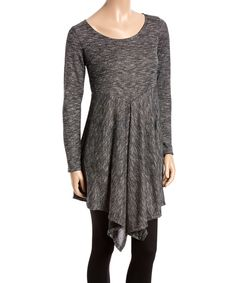 Look at this #zulilyfind! Charcoal Handkerchief Sweater Tunic by GLAM #zulilyfinds