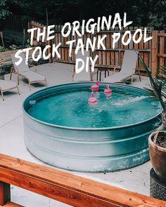 DIY Stock Tank Pool: Alles was Sie wissen müssen # Stock Pools, Stock Tank Pool, Above Ground Pool, In Ground Pools, Pool Maintenance, Small Pools, Cool Landscapes, Pool Designs, Swimming Pools