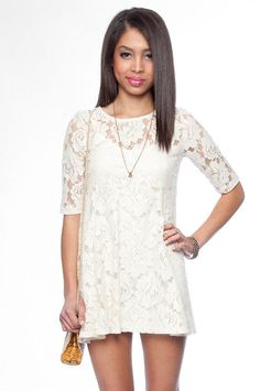 Looking for a lace dress... this would probably be way too short on me.