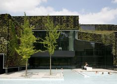 Camouflaging Facade on a Sport Plaza sport plaza outdoor pool