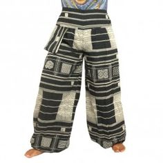 Encaje bordado tradicionalmente pantalones tailandeses