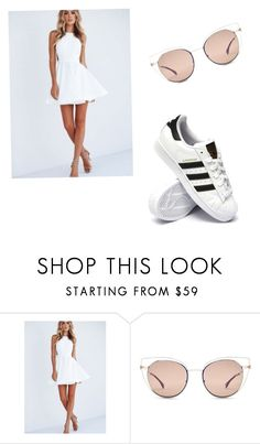 """Avelynn"" by uniduckface on Polyvore featuring Fendi and adidas"