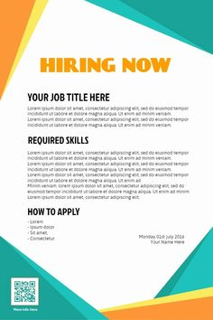 Help Wanted Flyer Templates Fresh Hiring Poster Design to Customize Hiring Flyer Designs Creative Poster Design, Creative Posters, Advertisement Template, Job Advertisement, Help Wanted Ads, Hiring Poster, Magazine Cover Layout, Free Flyer Templates, Design Templates