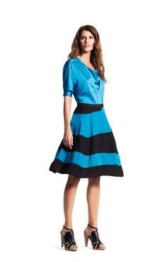 Love this skirt!!!  Flowing form with a crisp graphic element. #DerekLam #DesigNation #Kohls
