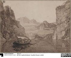 Karl Friedrich Schinkel (1781-1841): Ansicht des Königssees bei Berchtesgaden Inv.-Nr.: SM 1a.7, Kupferstichkabinett, Staatl. Mueseen zu Berlin