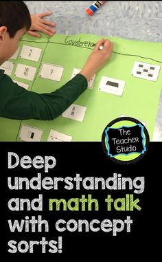 Concept Sorts--Deep Thinking about Fractions...So many textbook lessons fail to give our students the experiences of deep thinking and quality math talk. Concept sorts DO this--so stop by this blog post to learn more!