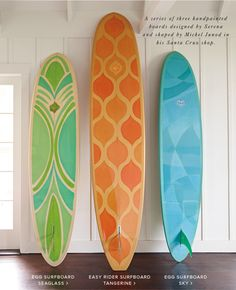 Give a One-of-a-Kind Gift of a hand painted surfboard designed by Serena and shaped by Michel Junod Egg Surfboard, Surfboard Painting, Sup Yoga, Painted Boards, Hang Ten, Easy Rider, Surf Art, Skateboard Art, Surfboard