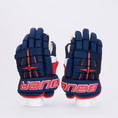 Bauer 4 Roll Navy with Red