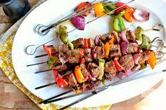 Grilled Marinated Steak Kebabs