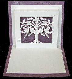 tree pop up card