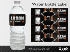 Call of Duty Black Ops Water Bottle Label Printable by GeekParty