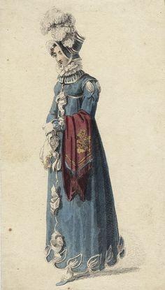 December walking dress, 1815 England, Ackermann's Repository.