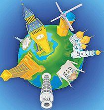 Coloriage les monuments du monde sur Hugolescargot.com