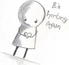 sad easy drawings sketches hearts simple heart quotes inspired uploaded user