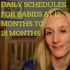 Daily feeding and napping schedule for 12-18 month olds. #momtips
