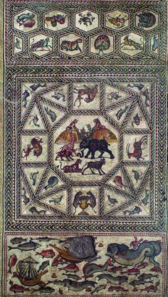 The Lod Mosaic:  The 1700 year old, 600 square foot (180 square meter) masterpiece was first found in Lod, Israel, 13 years ago.