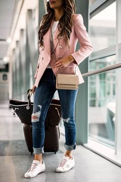 Blazer Outfits Casual, Business Casual Outfits For Women, Cute Casual Outfits, Stylish Outfits, Blazer Outfits For Women, Women Fashion Casual, Cute Professional Outfits, Womens Fashion Outfits, Classic Outfits For Women