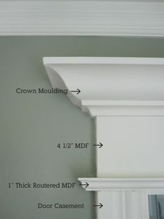 Woodworking Ideas House anatomy of trim moulding --for the kitchen/living room doorway.Woodworking Ideas House anatomy of trim moulding --for the kitchen/living room doorway Home Renovation, Home Remodeling, Eames Design, Moldings And Trim, Crown Moldings, Diy Crown Molding, Door Trims, Window Trims, Bedroom Doors