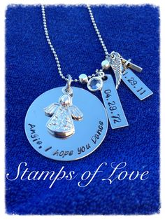 Grief necklace R.I.P Angie http://www.stampsoflove.com/Grief-Necklace-with-2-Tags-GRIEF1.htm