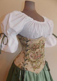 Countess Rose Under-bust Corset Set - renaissance clothing, medieval, costume Renaissance Fair Costume, Medieval Costume, Renaissance Clothing, Medieval Dress, Renaissance Corset, Renaissance Outfits, Steampunk Clothing, Old Fashion Dresses, Fashion Outfits