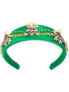 Shop Dolce & Gabbana flower embellished headband.