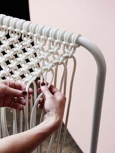 Tamara Maynes macrame on The Design Files | Australia's most popular design blog. Photo Eve Wilson