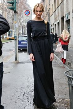 maxi ~ black    I´m getting attached to a full black outfit
