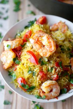 Salty, lemony, buttery Shrimp Scampi over a healthy bowl of spaghetti squash tossed insavoryparmesan cheese. Ready in 25 minutes!