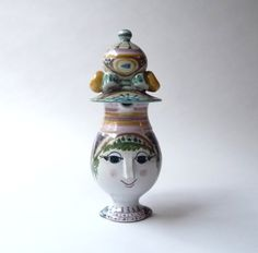 Bjorn Wiinblad Danish Modern Ceramic Head Creamer