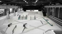 Nike SB Shelter in Berlin: Here we get a closer look at the Nike SB Shelter, a striking indoor skate park that opened earlier California Skateparks, Berlin, Skating Rink, Skate Park, Interior Exterior, Nike Sb, Landscape Architecture, Playground, Shelter