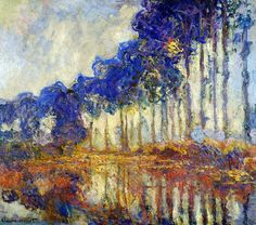 Les Peupliers, Automne by Claude Monet; from photopoésie, via Flickr