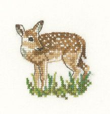 deer cross stitch charts   ... 27 EVENWEAVE LITTLE FRIENDS FAWN DEER BAMBI CROSS STITCH KIT ANIMAL