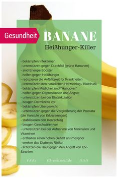 Die Wirkung der Banane auf deine Gesundheit, Heißhunger Fitness Rezepte WEIGHT The effect of the banana on your health, fitness and it can style cravings Healthy Juice Recipes, Healthy Juices, Clean Eating Soup, Clean Eating Recipes, Transformation Fitness, How To Stop Cravings, Menu Dieta, Lactation Recipes, Money Saving Meals
