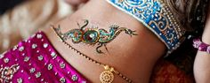 Not only on hands & legs, women now also grace their belly with henna. Getting belly henna designs while pregnant is believed to carry some good luck. Here are 10 beautiful henna designs you can try. Eid Mehndi Designs, Henna Tattoo Designs, Mehndi Images, Tattoo Ideas, Henna Mehndi, Henna Art, Henna Belly, Indian Henna, Henna Mandala