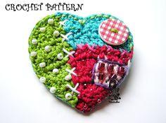 Crochet heart from my patchwork world by VendulkaM on Etsy