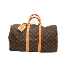 801f58c805 Louis Vuitton Keepall 45 is a classic of the Louis Vuitton travel bag  collection. This spacious medium sized version in Monogram canvas and a  double brass