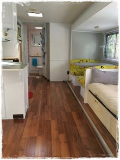 replacing rv carpet with vinyl flooring and using vinyl trim for a