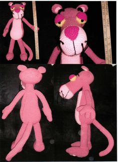 Big Pink Panther a Crochet Pattern by Erin by ErinScullsToyStore