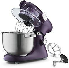 Gourmia EP700 7Quart 6 Speed Stand Mixer Planetery Action with Stainless Steel Bowl Purple Includes Free Recipe Book >>> Check this awesome product by going to the link at the image. (This is an affiliate link)