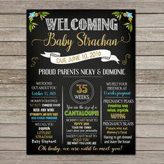 Safari Baby Shower Poster | Baby Shower Chalkboard Sign | Safari Baby Shower | Milestone Sign | Printable