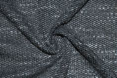 Black White French Terry 13 100% Cotton Apparel Fabric Medium