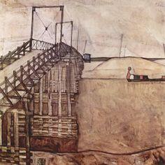 Egon Schiele, The Bridge (1912-13) (thanks aperfectcommotion; gwyon; poligraf; workman)