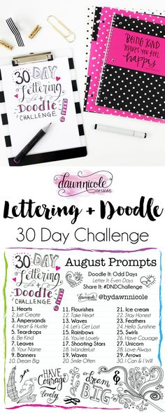 Lettering and doodle 30 day challenge