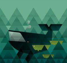 Geometric Animals by Rea Christ, via Behance