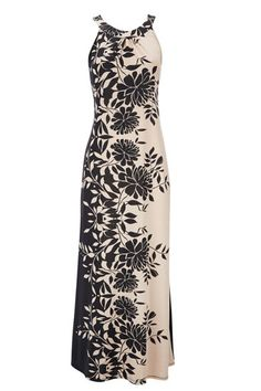 Cream Floral Petite Maxi Dress