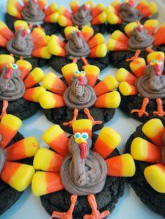 Candy Corn Turkey Cookies